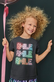 Smile Slogan T-Shirt (3-16yrs)