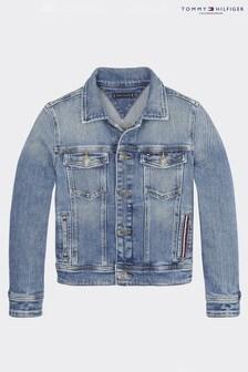 Tommy Hilfiger Blue Light Blue Trucker Denim Jacket