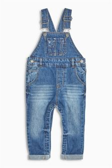Authentic Long Leg Dungarees (3mths-6yrs)