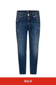 Neil Barrett Boys Blue Denim Jeans