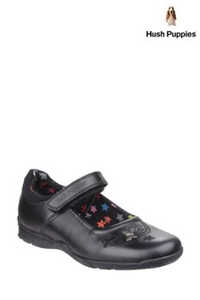 Hush Puppies Black Clare Senior Back To School Shoes
