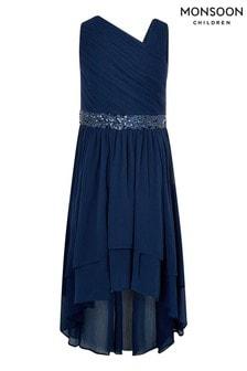 Monsoon Blue Abigail One Shoulder Prom Dress