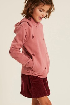 FatFace Pink Star Embroidered Hoody