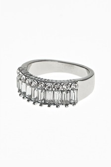 Baguette Stone Effect Ring