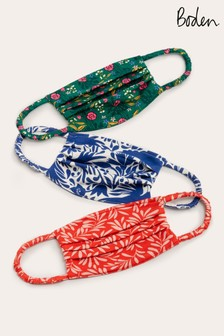 Boden Blue Non-Medical Face Covering Three Pack