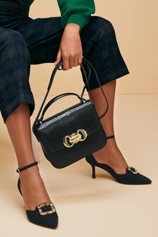 Two Part Buckle Detail Shoes