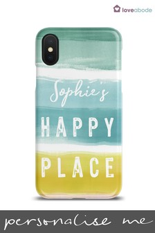 Personalised Happy Place Phone Case by Loveabode