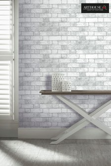 Arthouse White Brickwork Wallpaper