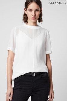 AllSaints White Trace Top