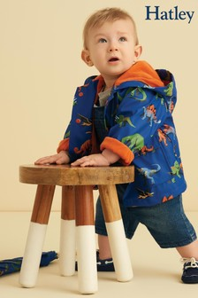Hatley Blue Friendly Dinos Baby Raincoat