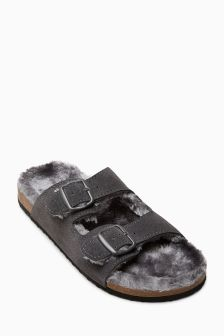 Cosy Lined Corkbed Sandals (Older Boys)