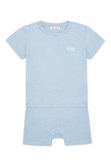 Baby Boys Blue Cotton Shortie