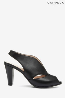 Carvela Black Cracker Slip-On Sandals