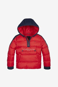 Tommy Hilfiger Boys Mixed Media Popover Jacket