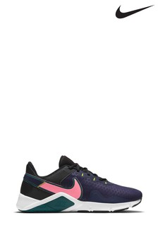 Nike Navy/Pink Legend Essential 2 Trainers