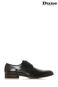Dune Men's Black Natural Sole Round Toe Lace-Up