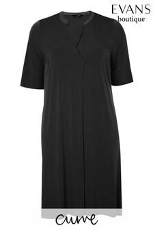 Evans Curve Black Pocket Dress