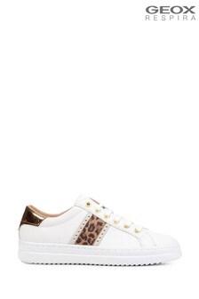 Geox Women's Pontoise White/Off White Sneakers