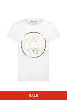ELIE SAAB Girls White Cotton T-Shirt