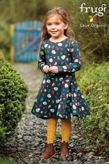 Frugi Blue GOTS Organic Full Skirt Skater Dress