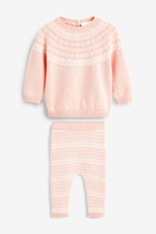 Knitted Fairisle Pattern Jumper Set (0mths-2yrs)