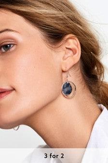 Organic Shape Drop Earrings