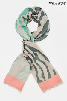 White Stuff Natural Joni Jacquard Scarf