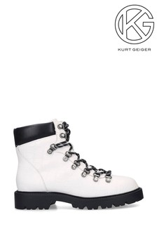Kurt Geiger Timmy White Ankle Boots