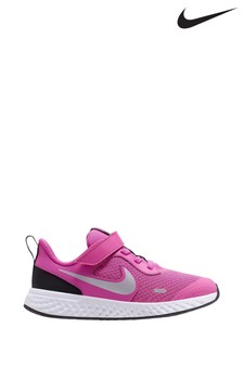 Nike Pink/White Revolution 5 Junior Trainers