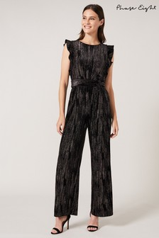 Phase Eight Black Victoriana Sparkle Jumpsuit