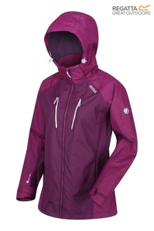 Regatta Purple Womens Calderdale III Waterproof Jacket