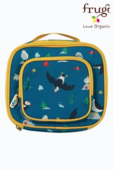 Frugi National Trust Blue Puffins Recycled Polyester Lunch Bag