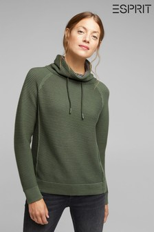 Esprit Green Tunnel Neck Sweater