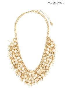 Accessorize Cream Pearl Collar