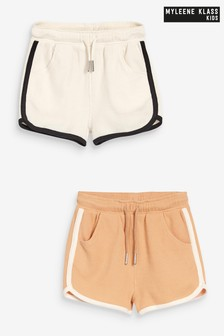 Myleene Klass Kids Textured Shorts 2 Pack