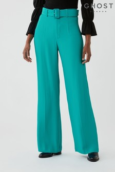 Ghost Maribel Satin Back Crepe Trousers