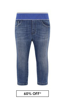 Emporio Armani Baby Boys Blue Trousers