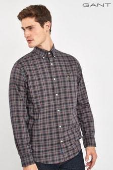 GANT Blue Tech Prep Check Regular Shirt