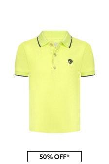 Timberland Boys Yellow Cotton Polo Shirt