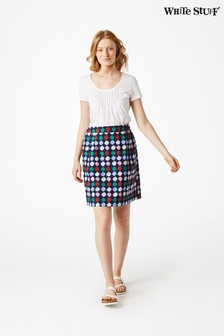 White Stuff Blue Needle Craft Skirt