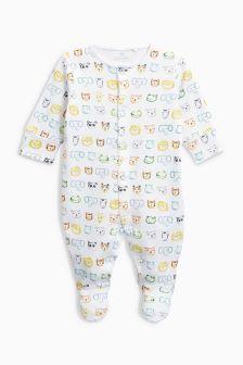 丛林动物印花婴儿睡衣 (0个月-2岁)
