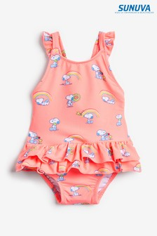 Sunuva Pink Snoopy Frill Swimsuit