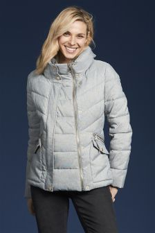 Maternity Grey Padded Jacket Panel