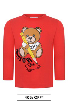 Baby Red Cotton Jersey Long Sleeve T-Shirt