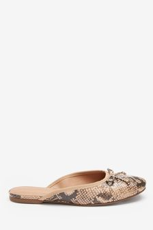 Leather Signature Ballerina Mules