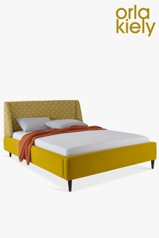 Orla Kiely Sunshine Sophia Bed With Walnut Legs