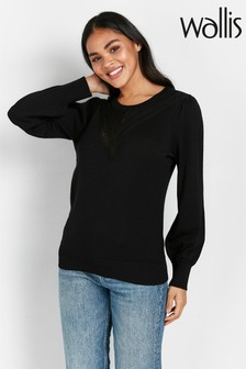 Wallis Black Puff Sleeve Top