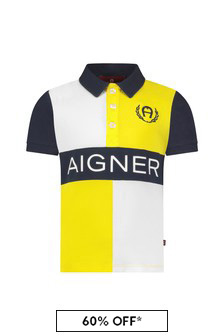 Aigner Baby Boys Yellow Cotton Poloshirt
