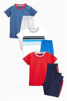 Sporty Mixed Leg Pyjamas Three Pack (9mths-8yrs)