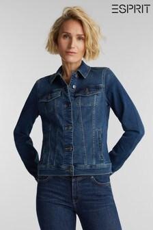 Esprit Blue Regular Indoor Denim Jacket